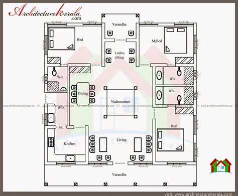 House Plans 1500 Sq Ft by Nalukettu Style Kerala House With Nadumuttam