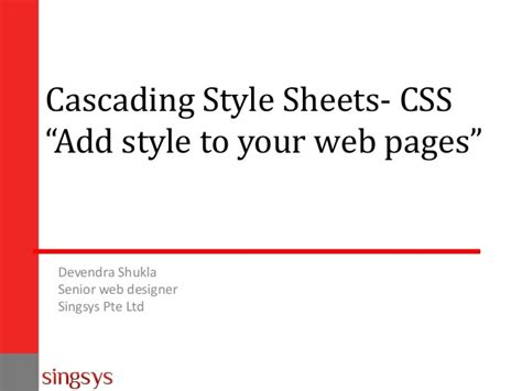 css tutorial for beginners ppt beginners css tutorial for web designers