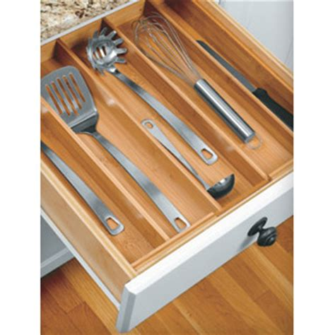 Kitchen Utensil Drawer Organizer by Bamboo Expanding Utensil Drawer Organizer In Kitchen