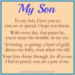 Love Quotes For Your Son by I Love You Son Quotes Quotesgram