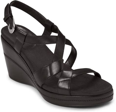 Sandal Wanita Wedges Original Black aerosoles rosoles hedge maple leather sandal wedges where to buy how to wear