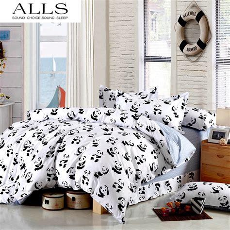 Black And White Single Duvet Sets Black And White Bedding Set Panda 100 Cotton Bed Sheet