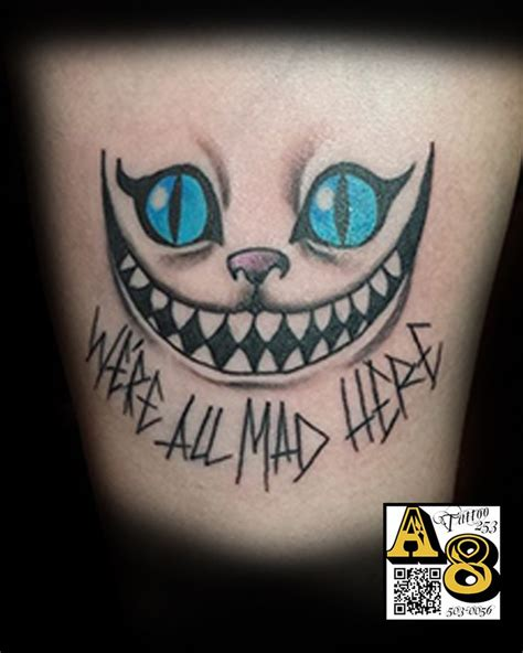 we re all mad here alice in wonderland color ali tattoos