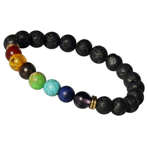 colorful mens buddha jewelry lava 7 chakra healing balance