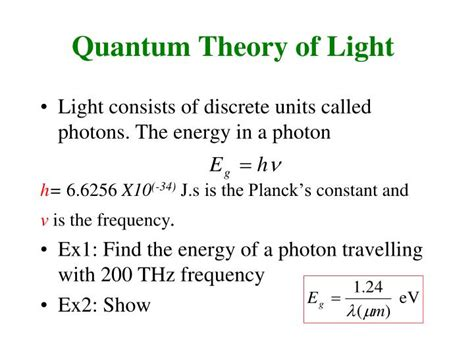 quantum theory of light ppt light waves and polarization powerpoint presentation