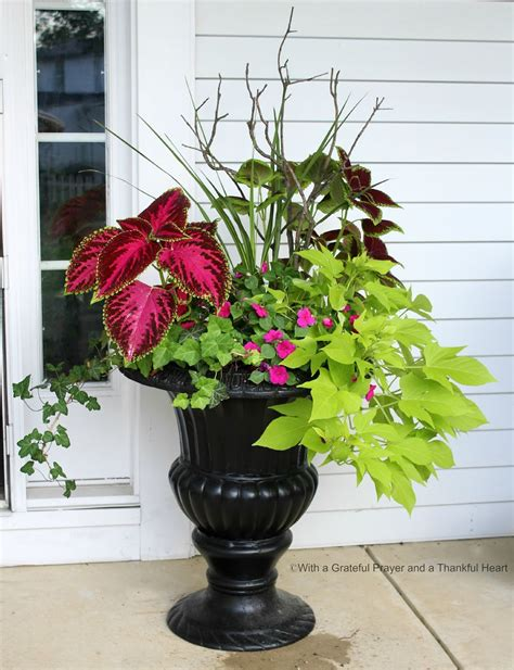 Porch Flower Planters by With A Grateful Prayer And A Thankful Porch Planters