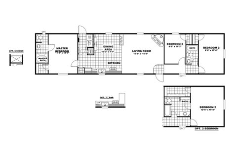 clayton homes floor plans clayton yes series mobile homes