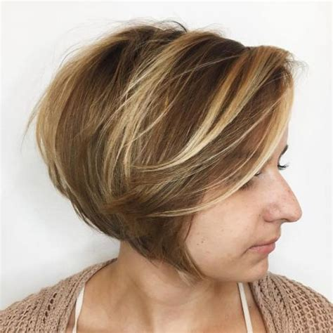 highlights with blonde and dark on chin length hair 40 chic angled bob haircuts