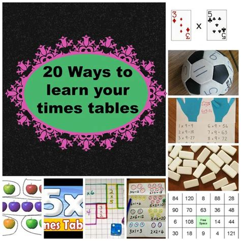 ways to learn your multiplication tables 20 easy ways to help your children learn their