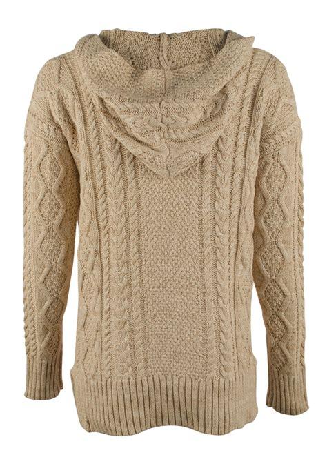 Hooded Knit Sweater knit hooded sweater coat nj
