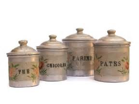 French Kitchen Canisters Shabby French Kitchen Canister Set Vintage French Aluminum