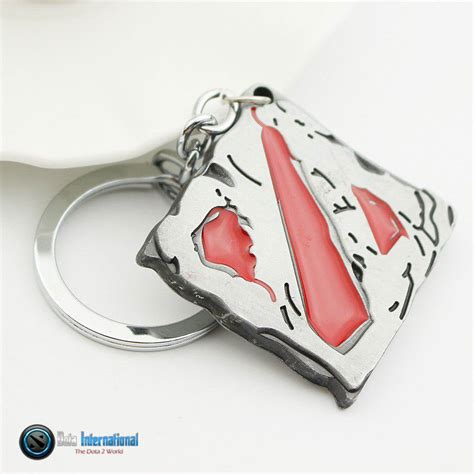 dota 2 logo matellic keychain dota international