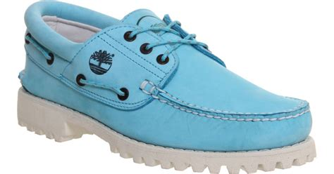 timberland boat shoes turquoise timberland lug boat shoes in blue for men turquoise