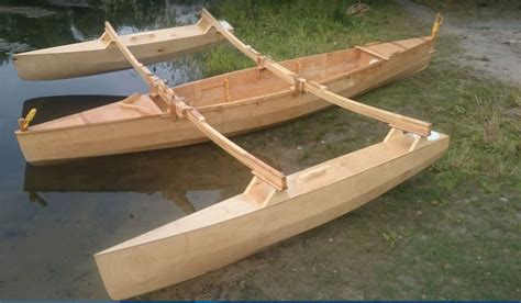 trimaran canoe 4 5 m double outrigger sailing canoe small trimarans