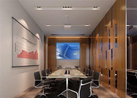 Hotel Conference Room Layout | modern minimalist digital meeting room interior design