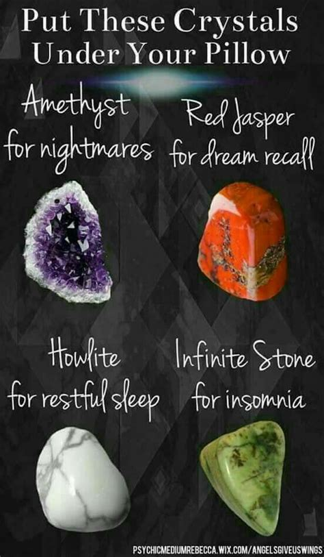 crystals  put   pillow reiki healing crystals