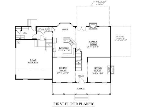 1st floor house plan houseplans biz house plan 2543 b the rutledge b