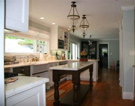 narrow kitchen design with island the narrow pedestal island