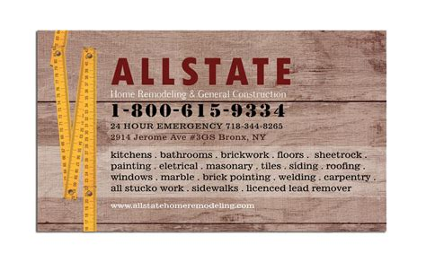 Free General Contractor Business Card Templates by General Construction Business Card Dezignation
