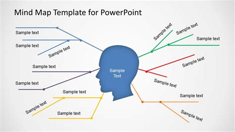 mind map template powerpoint free simple mind map template for powerpoint slidemodel