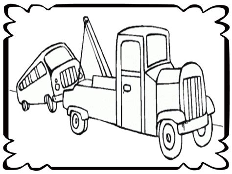 tow truck coloring page printout tow truck coloring page printout realistic coloring pages