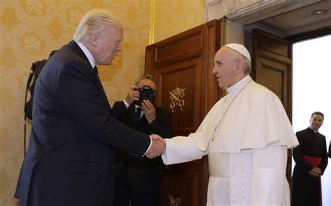 trump pope francis trump meets pope francis at vatican world the guardian