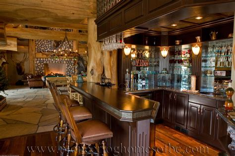 Bar Cabin bars and rooms log home and cabin interiors pioneer log homes of bc