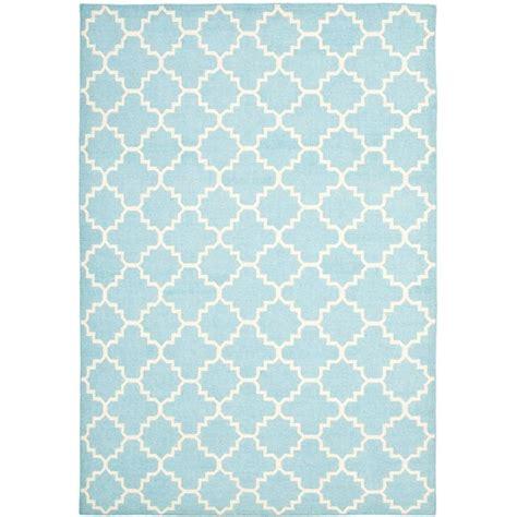 light blue rug safavieh dhurries light blue ivory 8 ft x 10 ft area rug