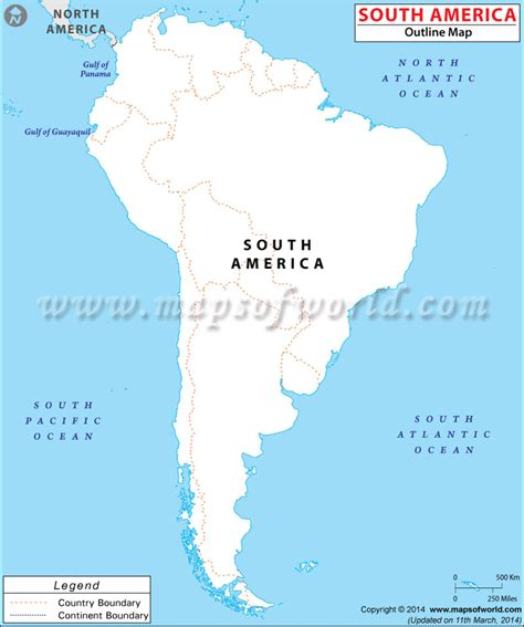 South America Blank Map   Outline Map of South America