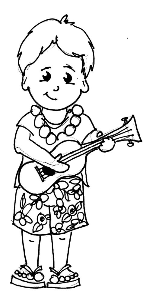 Hawaiian Boy Pages Coloring Pages | hawaiian shirt coloring page coloring pages