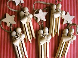 set of 3 clothespin nativity ornaments