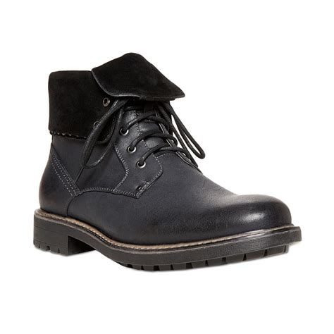 black boots mens shoes steve madden madden mens shoes mylow boots in black for