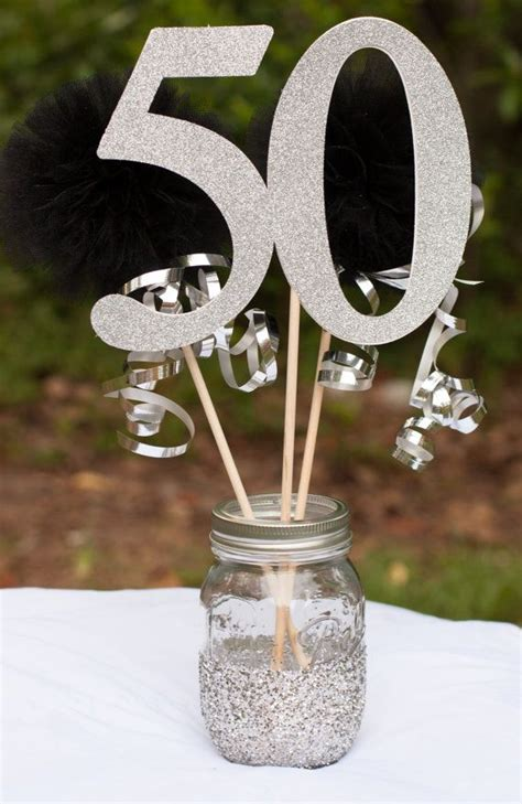 17 best ideas about 50th birthday centerpieces on