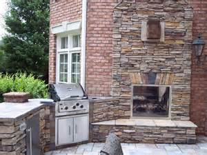 patio fireplace traditional