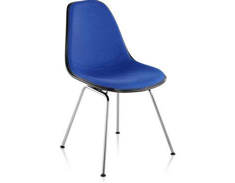 eames 174 upholstered side chair with 4 leg base hivemodern