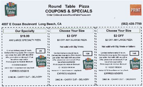 Table Discount Code table coupons