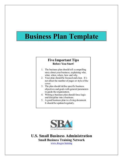 small business administration business plan template business plan template