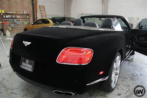 velvet wrapped cars wrap of the day black velvet bentley gtc