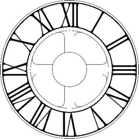 printable roman numeral clock face clock dial template clipart best