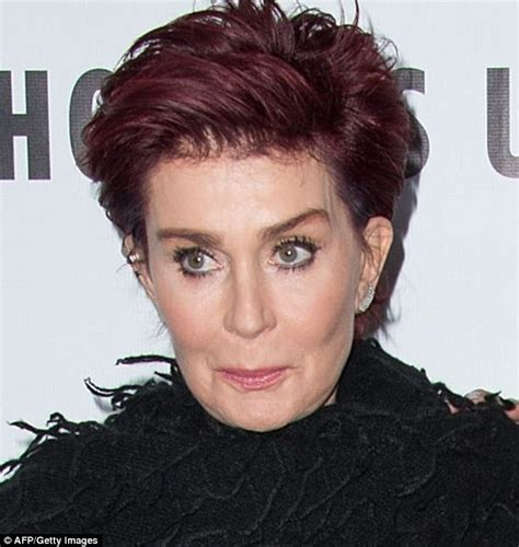 what does sharon ozbournes hair look like in the back sharon osbourne s years of botox appears to have taken