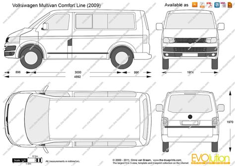 comfort line the blueprints com vector drawing volkswagen multivan