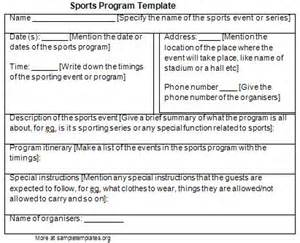 program template for sports example of sports program