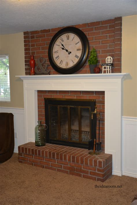 brick fireplace mantels diy fireplace mantel the idea room