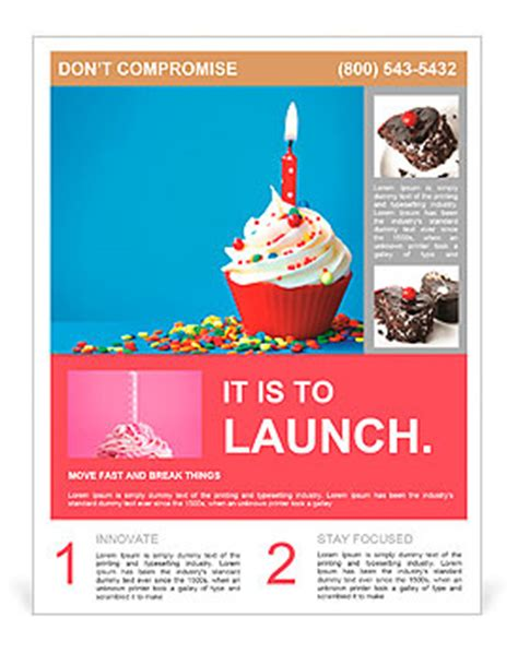 cupcake flyer templates free birthday cupcake flyer template design id 0000009600 smiletemplates