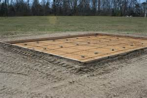 Depth Of Concrete Slab For Shed by How To Build A Storage Shed On A Concrete Slab Goehs
