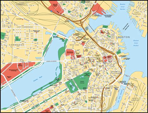 map boston map of boston city maps of united states planetolog