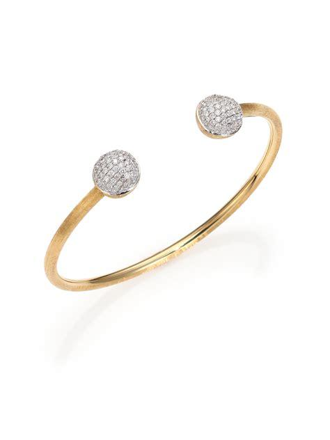 Marco bicego Africa Diamond & 18K Yellow Gold Cuff Bracelet in Metallic   Lyst