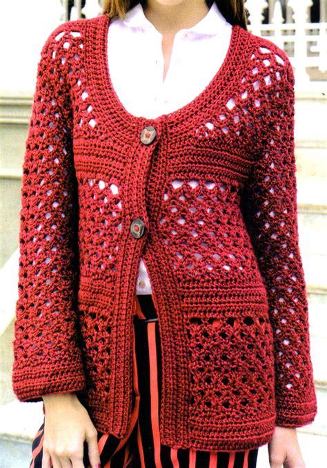 artesanales en crochet saco tejido en crochet con un bonito detalle tejidos al crochet paso a paso con diagramas exclusivo
