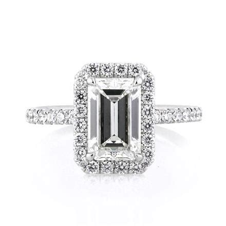 2 65ct emerald cut engagement ring