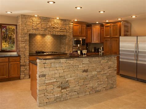 Stone Kitchen Backsplashes by Kitchen Stone Wall Coverings With Natural Stone Cladding